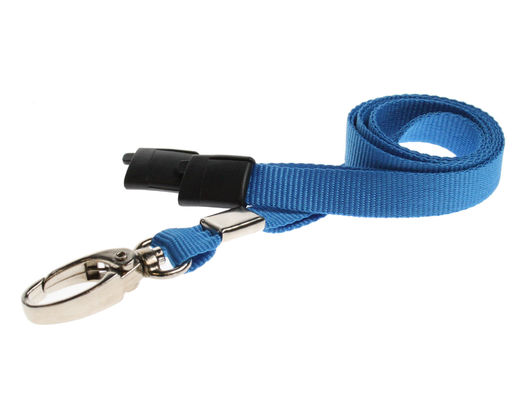 Plain Lanyards with Metal Lobster Clip vaaleansininen (100 kpl pakkaus)